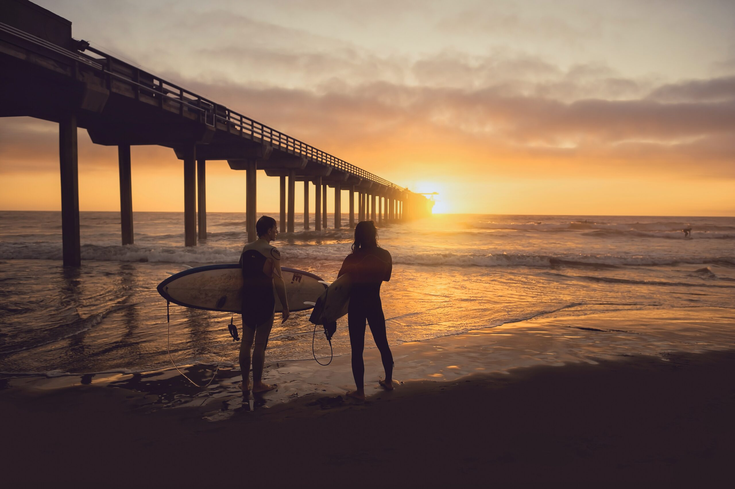 talk with local surfer